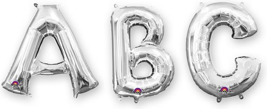 SuperShape Letter V Silver Foil Balloon P50 Packaged 81 x 81 cm