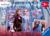 Ravensburger puzzel Disney Frozen 2 - Drie puzzels - 49 stukjes - kinderpuzzel