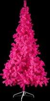 kunstkerstboom, kerstmis, kunststof kerstboom - roze fuchsia - 210 cm