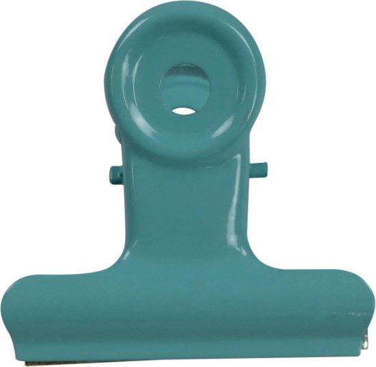 LPC Papierklem Bulldog clip turquoise - 19 mm -30 stuks