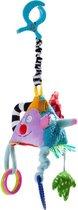 Taf Toys Grijspeeltje met trekkoord Vrolijke pyramide met bijtring - extra zacht