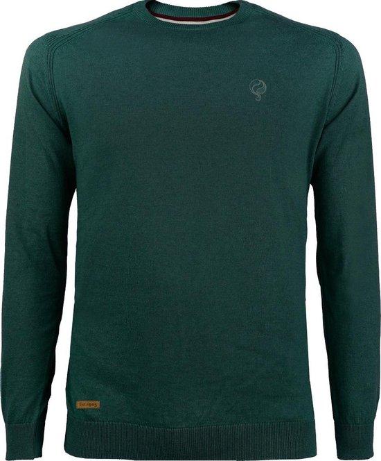 Heren Trui Leusden Kaki groen Q1905