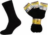 Benson Thermo Sokken 6 Paar Unisex - Zwart - Maat 39/42