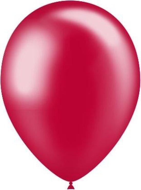 Rode Ballonnen Metallic 25cm 50 stuks