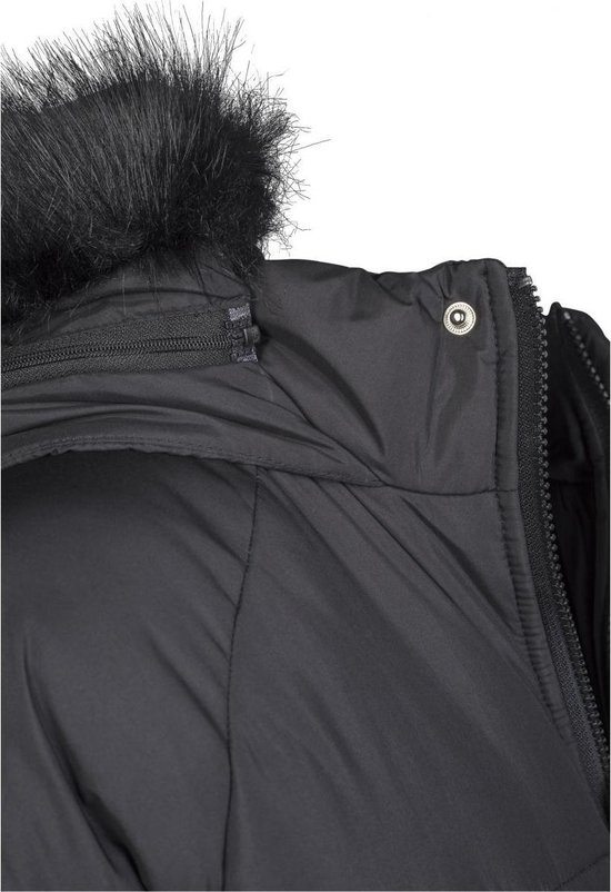 Jas Dames Oversized Faux Fur Puffer Coat zwart