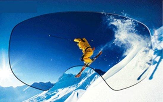 Ski bril + hard case lens Smoke Red frame Oranje F type 9 Cat. 0 tot 4 - ☀/☁ extra lens is optie.