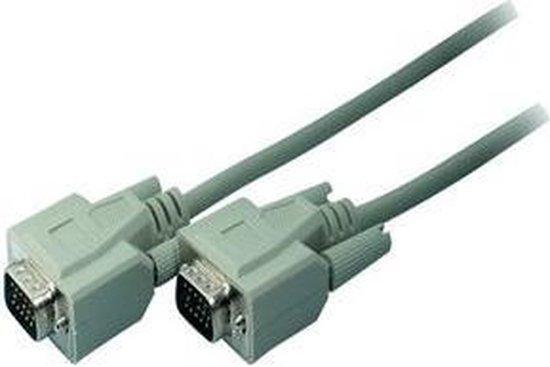 S-Conn 2m VGA VGA kabel VGA (D-Sub) Grijs