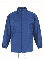 Windjas/regenjas voor heren kobaltblauw maat 3XL