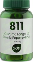 AOV 811 Curcuma longa & Zwarte Peper Extract Voedingssupplementen - 60 vegacaps
