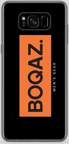 BOQAZ. Samsung Galaxy S8 hoesje - Labelized Collection - Orange print BOQAZ