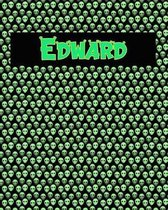 120 Page Handwriting Practice Book with Green Alien Cover Edward