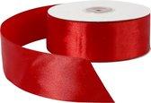 Satijn lint, b: 38 mm, rood, 50 m