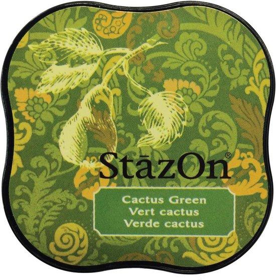 Stazon sneldrogend stempelkussen midi Cactus Green