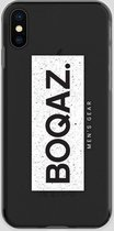 BOQAZ. iPhone X hoesje - Labelized Collection - Grunge print BOQAZ