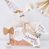 Ginger Ray - Photo Booth Props Baby Shower - 10 stuks
