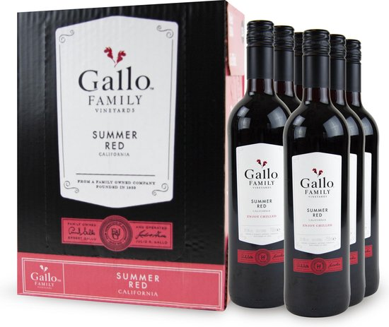 Gallo Family Vineyards Summer Red - 6 x 75 cl - Doos
