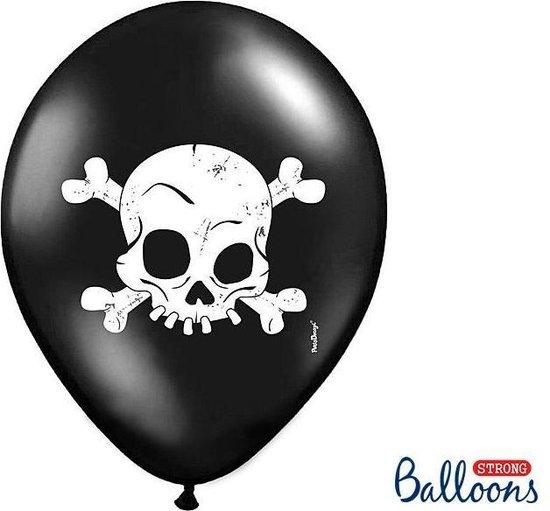 Ballonnen Halloween Schedel 50 stuks