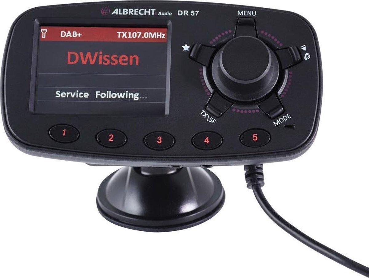 Albrecht DR57 DAB+ ontvanger Handsfree-functie, Zuignaphouder