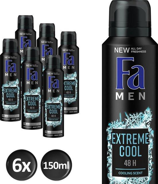 Fa Men Extreme Cool - 6x 150 ml - Voordeelverpakking - Deodorant