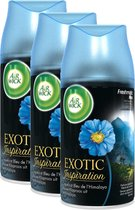 Air Wick Freshmatic Max Luchtverfrisser Exotic Inspiration Blauwe Klaproos - Navulling - 3 x 250 ml)