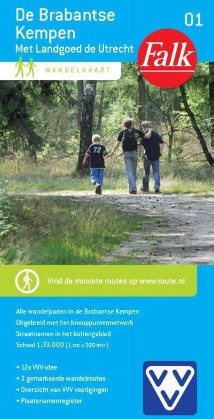 Falk wandelkaart 1 - De Brabantse Kempen - Falkplan  
