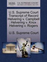 U.S. Supreme Court Transcript of Record Helvering V. Campbell