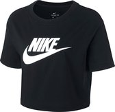 Nike Sportswear Essential Cropped Icon Futura T-Shirt Dames - Maat S