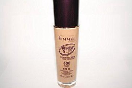 Rimmel Renew & Lift Foundation with Hyaluronic Serum – 300 Sand