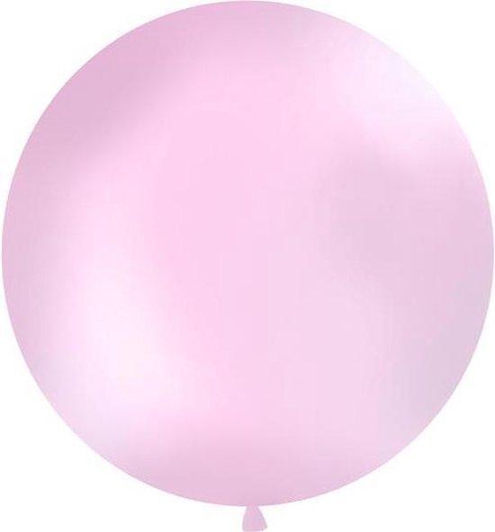 Reuzeballon 1 meter, Pastel roze