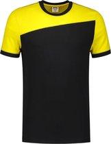 Tricorp T-shirt Bicolor Naden 102006 Zwart / Geel - Maat XXL