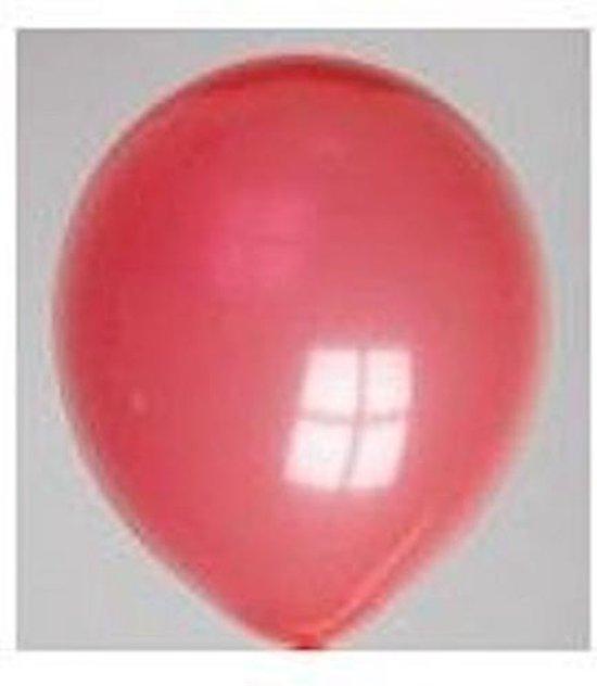 Zak met 100 ballons no. 12 rood