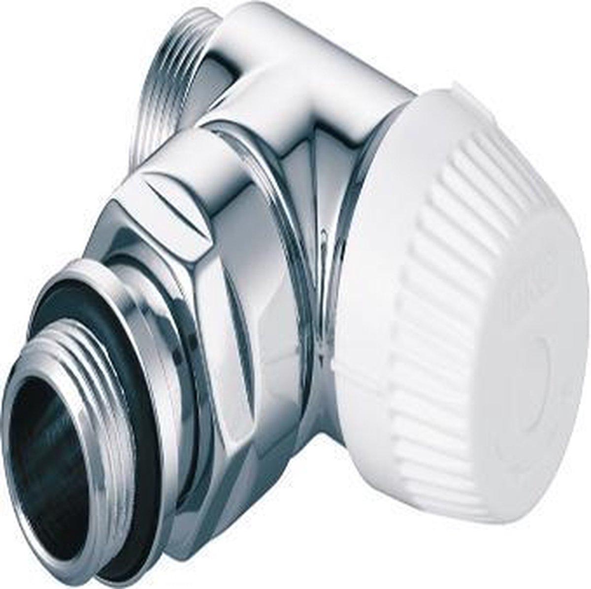 "Honeywell Ultraline thera design radiatorafsluiter m30x1.5 1/2"" kvs=1.2 dubbel haaks rechts chroom v2082rsl15"