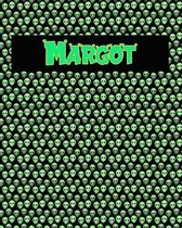120 Page Handwriting Practice Book with Green Alien Cover Margot