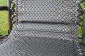 Set van 2 comfortabele ligstoelen voor in de tuin - Tweed - Textoline - verstelbaar - gevoerd