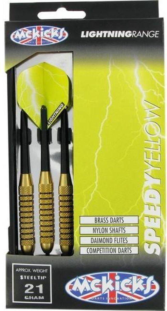 McKicks Speedy Yellow Brass - Dartpijl 21 gram