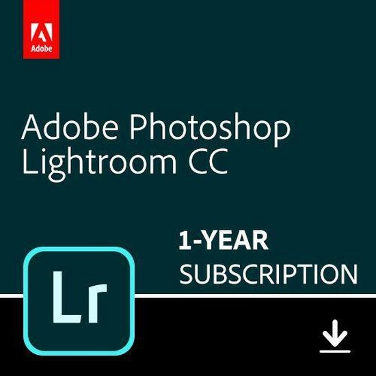 Adobe Photoshop Lightroom CC - 1 Apparaat - 1 Jaar - 1TB Cloudopslag - Nederlands / Engels - Windows / Mac Download