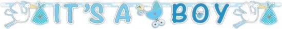 Letterslinger geboorte jongen 170 cm - babyshower versiering