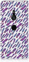 Hoesje met Magneet Sony Xperia XZ3 Feathers Color