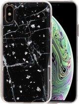 Marble Zwart Print Hardcase voor iPhone X / XS