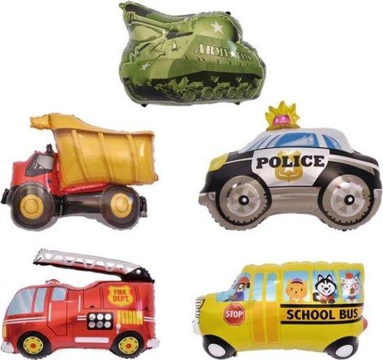 6 Stuks Ballonnen Auto's Mix | Verjaardag | Feest Accessoires