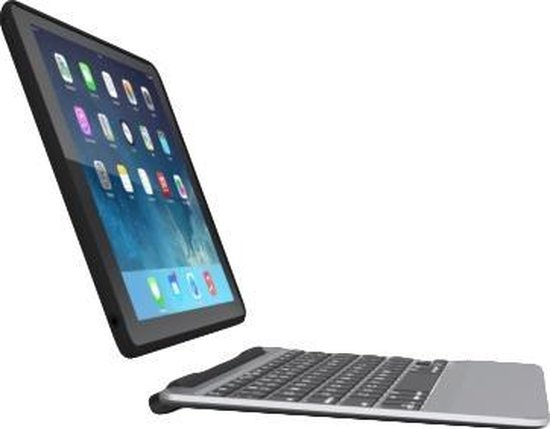 ZAGG Slim book Bluetooth Zwart, Zilver toetsenbord voor mobiel apparaat