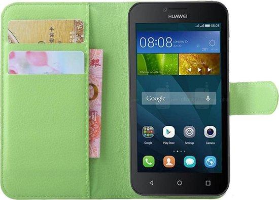 Huawei Y5  Hoesje Groen met Opbergvakjes