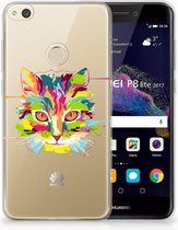Huawei P8 Lite 2017 Uniek TPU Hoesje Cat Color