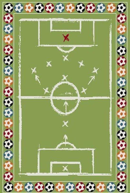 Fonkelnieuw bol.com   Vloerkleed Kinderkamer - Voetbal tactiek - Groen DE-89