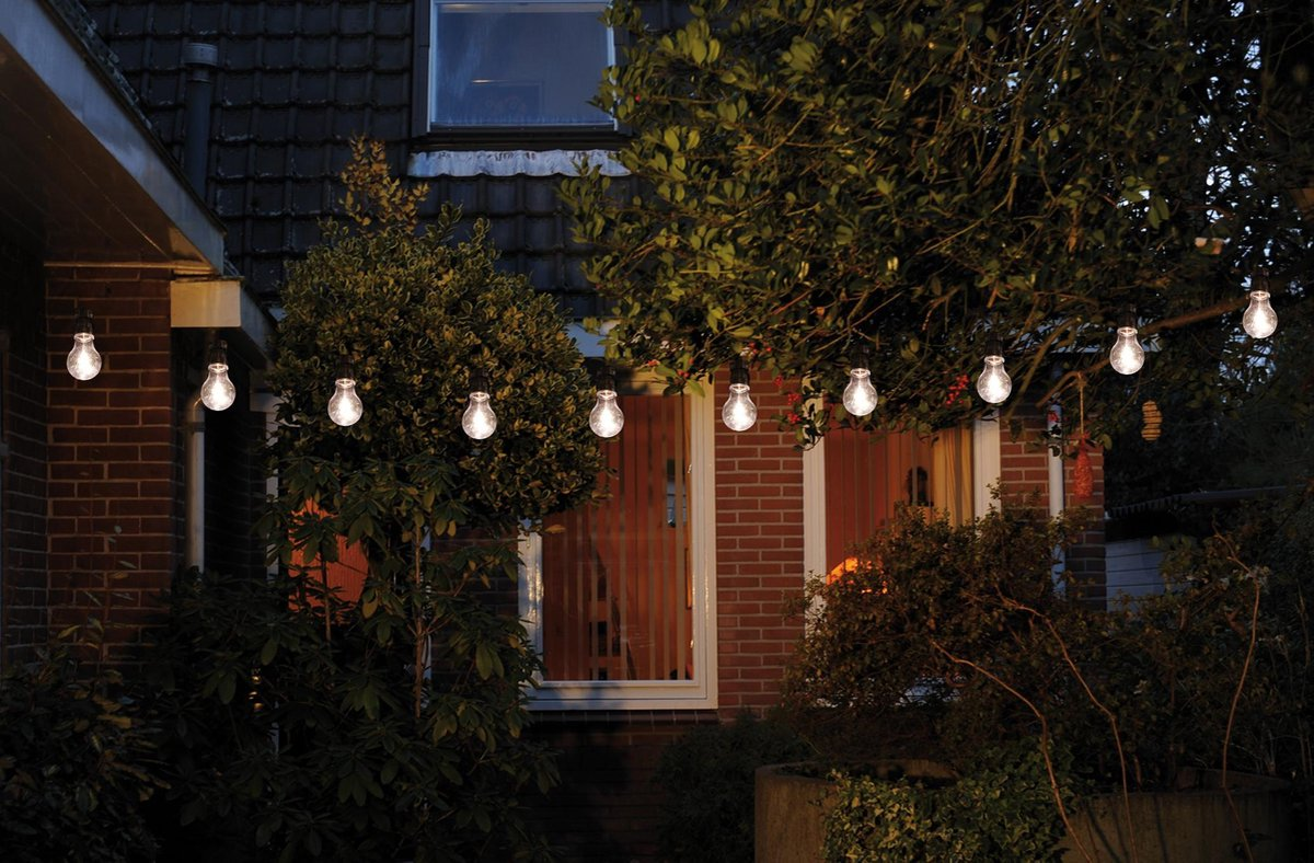 CBD Partyverlichting - 10 LED - ø7 cm – Warm Wit - 10m