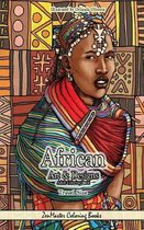 African Art and Designs Adult Coloring Book Travel Size