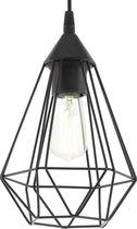 EGLO Vintage Tarbes Hanglamp - 1 Lichts - Ø17cm. - Zwart