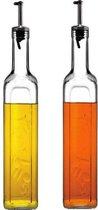 Homemade Olie- en Azijnset - Glas- 2st - 1000ml