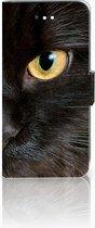 LG K11 Uniek Bookcase Hoesje Zwarte Kat