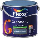 Flexa Creations - Muurverf Extra Mat - Blueberry Dream - 2,5 liter